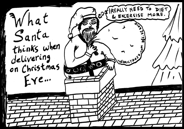 Santa claus christmas cartoon top 10 christmas jokes christmas what santa thinks when delivering on christmas eve santa pictured stuck in a m4hsunfo