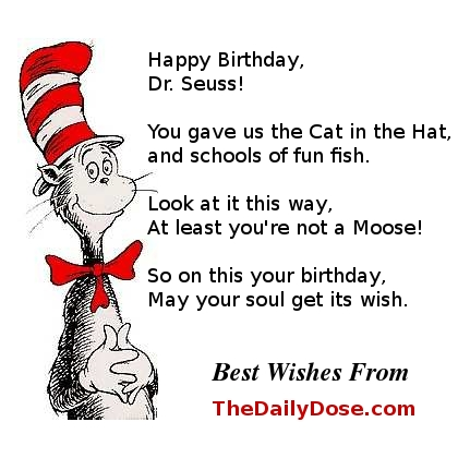 Hooray for Dr. Seuss on his Birthday! Happy Birthday Dr. Seuss - This Card's