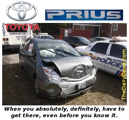 Toyota Prius - Gets you  there faster than you even try.