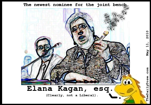 The  newest nominee for the joint bench. Elana Kagan, esq. (Clearly, not a Liberal). TheDailyDose.com .