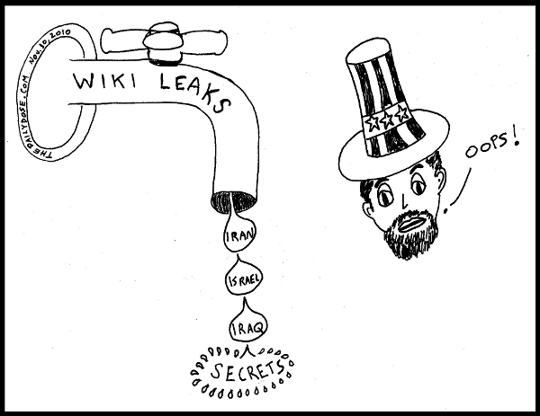 WIKI Leaks: Iran,  Israel, Iraq, ... SECRETS. Uncle Sam: Oops! TheDailyDose.com .
