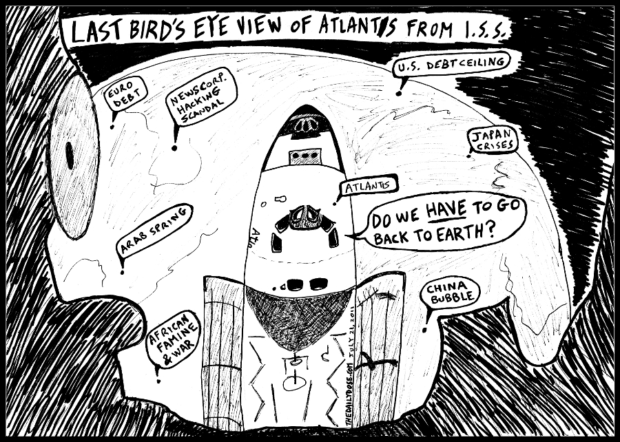Space program headline news cartoon n jokes ...