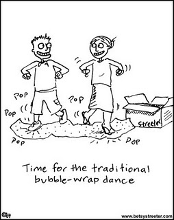 Bubble Wrap Dance Comic Panel