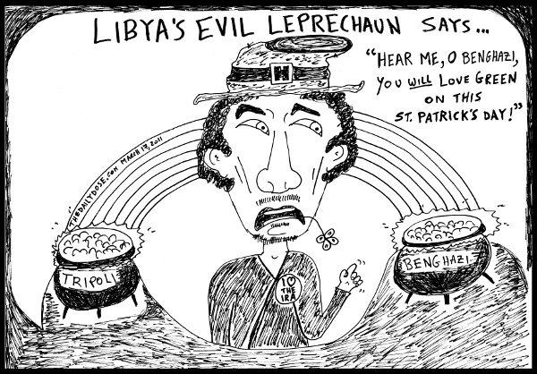 2011-march-17--gadaffi-evil-leprechaun-st-patricks-day-600x418
