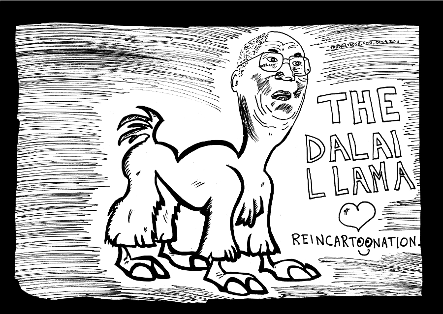 dalai llama editorial cartoon dalai lama comic strip caricature by laughzilla for the daily dose