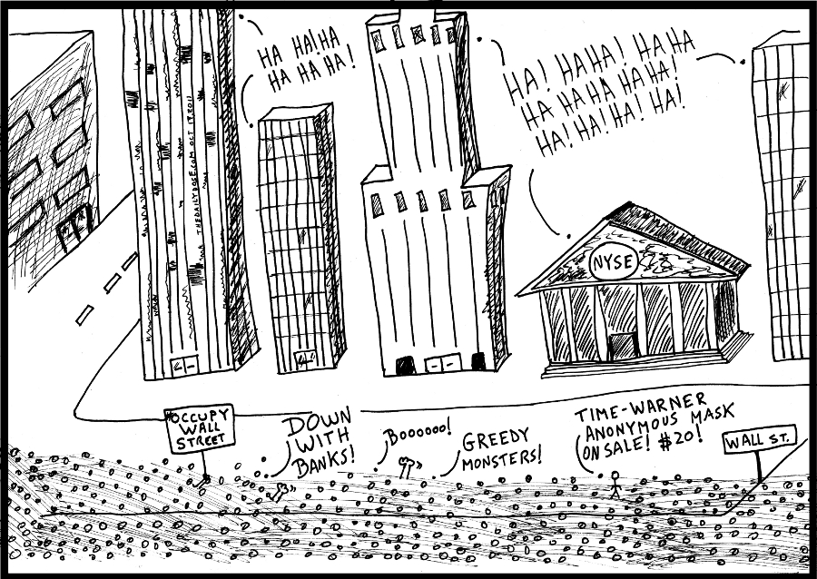 occupy wall street bankers political business cartoon #occupywallstreet comic strip caricature by laughzilla for the daily dose