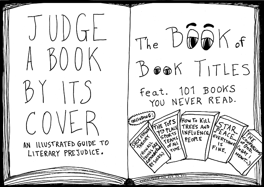 Book Cover Drawing Jobs : Book of titles editorial cartoon and top ten