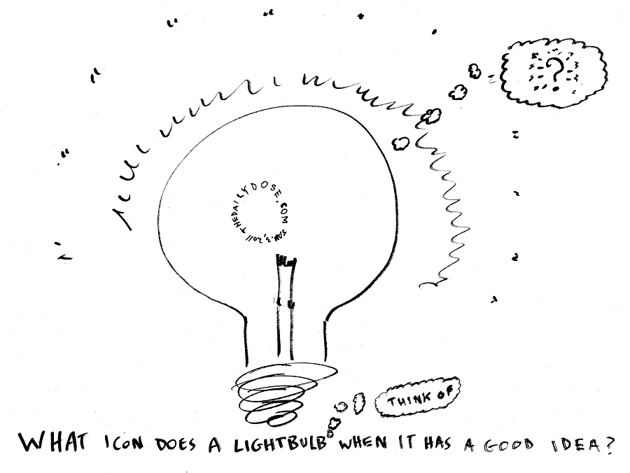 #occupythought lightbulb editorial cartoon by laughzilla for the daily dose