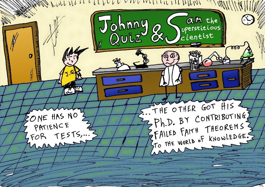 New Cartoon Starring Johnny Quiz And Sam The Superstitious Scientist