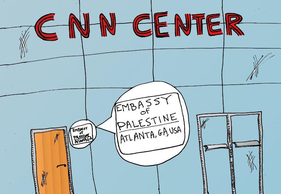 Embassy Of Palestine At CNN Center Atlanta Ga