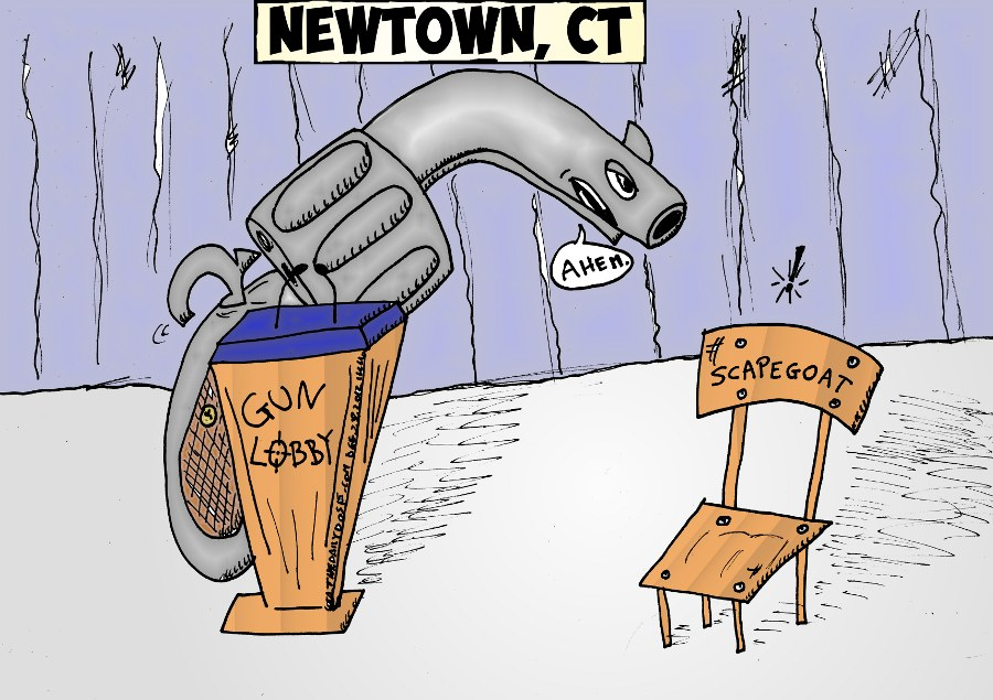 Gun Lobby Vs Empty Chair Cartoon