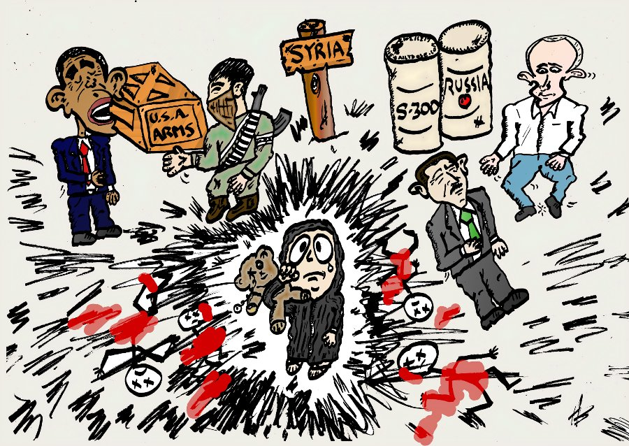 Syrian Civil War Editorial Caricature