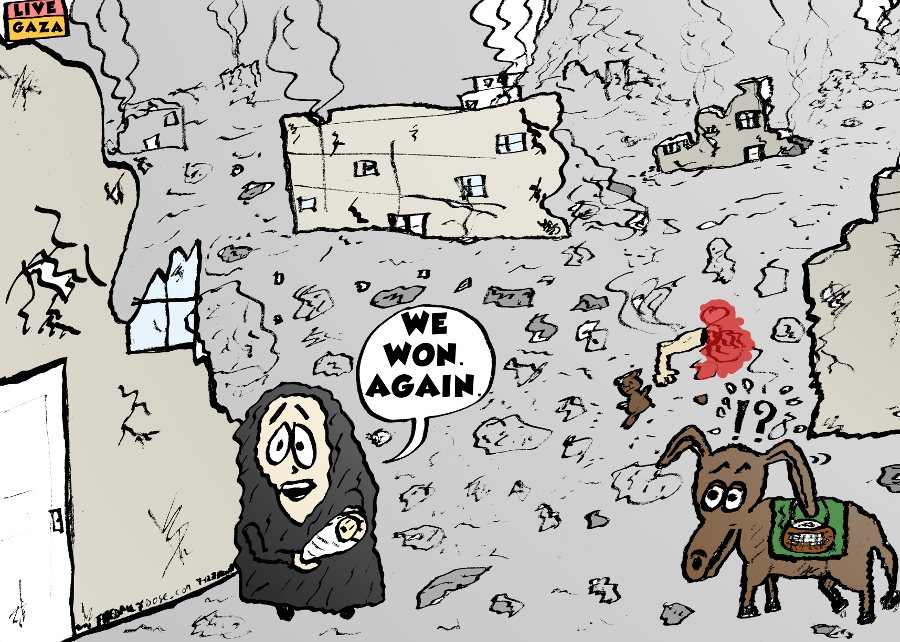 Hamas Won Again Cartoon and Jokes